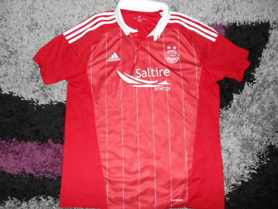 ABERDEEN FC   FOOTBALL TOP red  .SIZE  XL 46  INCH CHEST.. . OFFICIAL .ADIDAS.