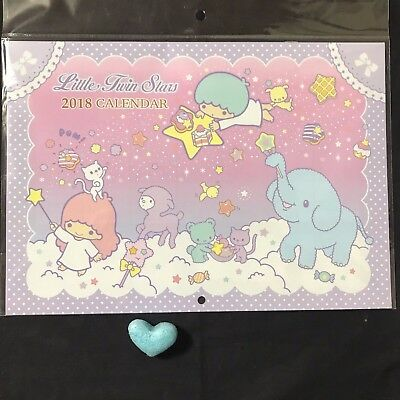 Sanrio Little Twin Stars 2018 Wall Hanging Calendar Kawaii JAPAN NEW