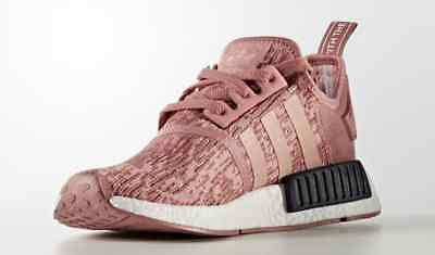 Women's Adidas NMD R1 Primeknit Raw Pink/Trace Pink-Legend Ink BY9648