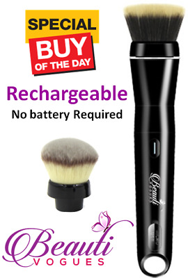 Electric Rechargeable Airtouch Rotating Makeup Brush - Foundation & Powder Brush