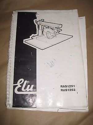 Elu RAS 1251/1253 Radial Arm Saw manual