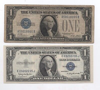 Lot  Of  Two  Silver  Cert. - 1928 A (Funny Back) And  1935 H  (Cu)