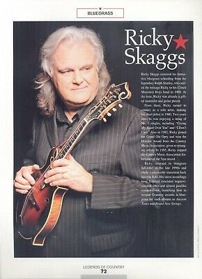 "Ricky Skaggs, Country Music Star in 2014 Magazine Print Clipping, ""Bluegrass"""