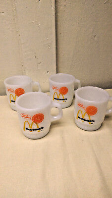 "Four Fire King McDonald's "" Good Morning "" Coffee Mugs"