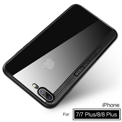 For iPhone 8 X 7 Plus Accessory TPU Bumper Shockproof Clear PC Hard Cover Case