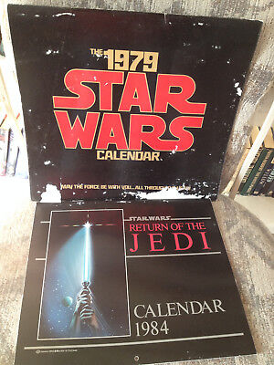 Vintage Lot Of 2 Star Wars Calendars, 1979 Star Wars And 1984 Return Of The Jedi