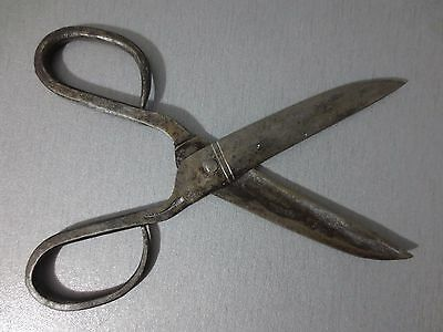 Antique 19th Century OTTOMAN Forged Carved Steel Scissors