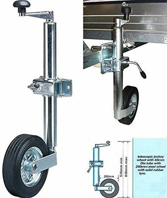 New Heavy Duty Jockey Wheel 48Mm Plant Trailer Caravan Generator Rust Resistant