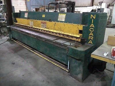 "Niagara Model 812, 12' X 1/4"" Mechanical Shear w/ 10' Sq. Arm & 24"" BOBG"