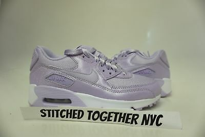 (880305-500) Gs Girl's Youth Nike Air Max 90 Se Mesh Violet Mist/white