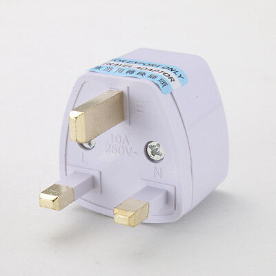 Universal US AU EU To UK Power Plug Adapter Travel 2 Pin Outlet Converter