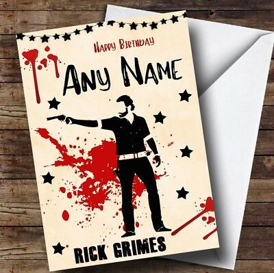 Rick Grimes The Walking Dead Personalised Birthday Card