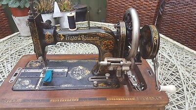 Frister and Rossman Sewing Machine & Case (1896-1914) + Accessories ~ Working