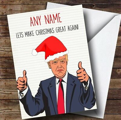 Funny Donald Trump Great Again Personalised Birthday Card 349