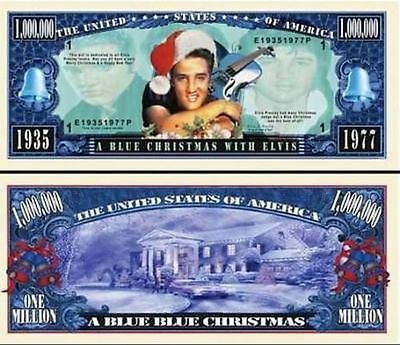 Elvis Presley / Million Dollar Novelty Bill / Blue Christmas With Elvis!