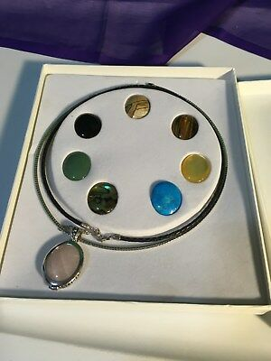 Sterling Silver Women Fashion Pendant Necklace Semi Precious Jewelry NIB NWT