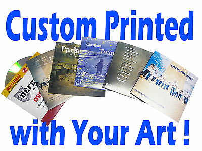 50 Custom Printed CD / DVD Cardboard Sleeves  / Disc Jackets