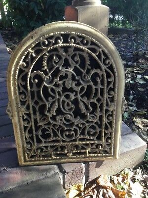 Large Antique Cast Iron Arch Top Dome Heat Grate Wall Register Old Vtg