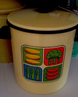 Vintage Retro Kitchen NOS Decorator Pot, Still Has Orig Tags-Must See
