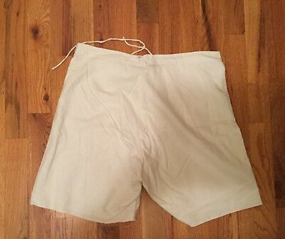 """Vintage WWII White Military Underwear Boxers Button Fly Magnolia Pearl Style 31"""""""