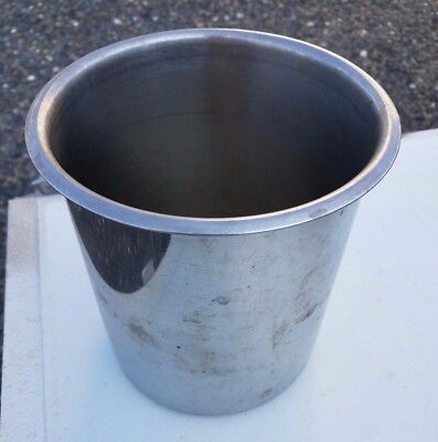 CYLINDRICAL STAINLESS STEEL CONTAINER 6 inch dia X 7 inches tall