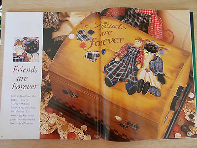Decorative Folk Art~16 Projects~Lampshade~Vase~Lap Desk~Armoire~Plate~Hall Table