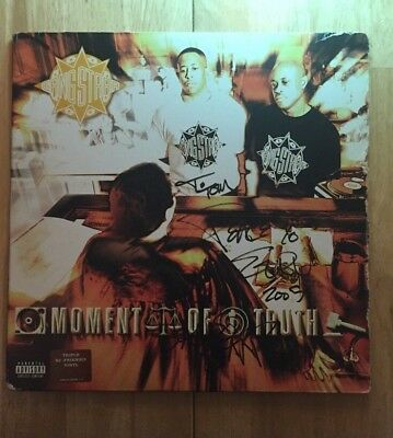 Gangstarr Moment Of Truth Triple Vinyl LP Sign By Guru.