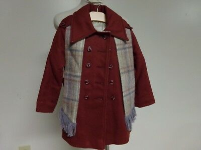 Vintage size 5 YOUNG CANADIAN Girls Coat,Military Style,made USA 1970s