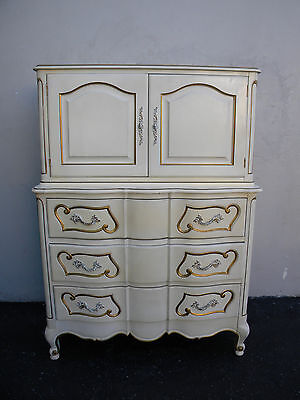French Painted Serpentine Chest of Drawers 3365