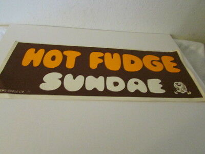 Vintage Ice Cream Paper Signage Advertising Hot Fudge Sundae
