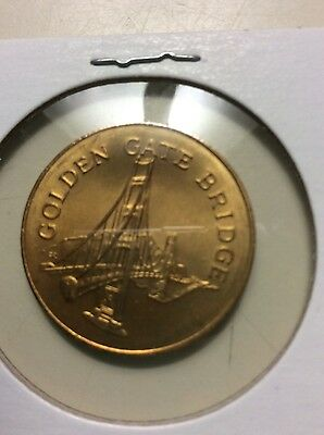 Franklin Mint 1969 Sunoco Landmarks of America Broze Coin/token G G Bridge