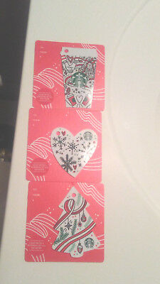 Starbucks Christmas 2017 Holiday Gift Cards Set Of 3 Keychains No Value