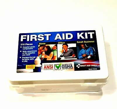 All Purpose Emergency First Aid Kit  210 Piece Survival Small Business Home Car
