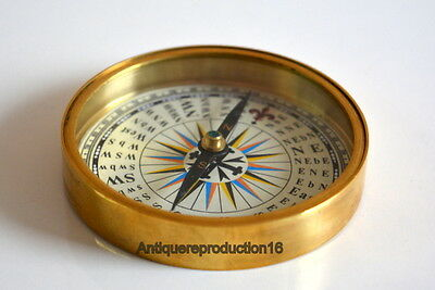 Beatles Old Vintage The Beatles Round Brass Compass From England 1965