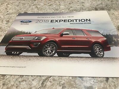 2018 FORD EXPEDITION PACKAGING GUIDE 10-page Original Sales Brochure