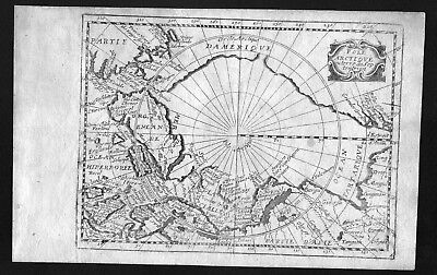 1687 North Pole America Greenland Jollain map carte Karte engraving antique