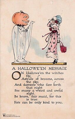 Vintage Halloween Postcard - Volland