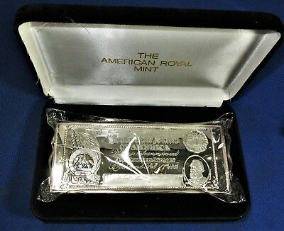 HUGE & HEAVY! ONE POUND(16 Conventional Oz.'s) PURE SILVER Confederate $500 Note