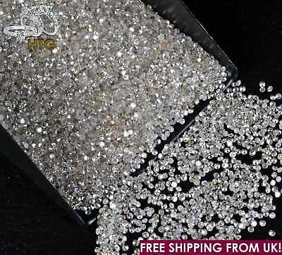 100% NATURAL Loose Round Single Cut 25 Diamonds 1.10mm-1.15mm, SI1-SI2, D-H Real