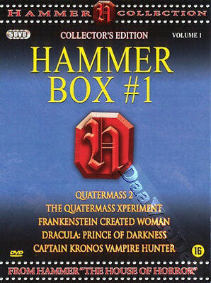 Hammer Box #1 NEW PAL 5-DVD Set Val Guest T. Fisher