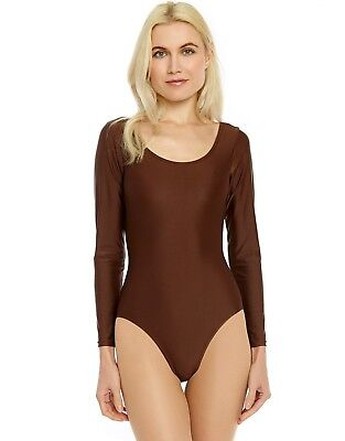 Leveret Women's Long Sleeve Leotard Variety of Colors (Size X-Small-X-Large)