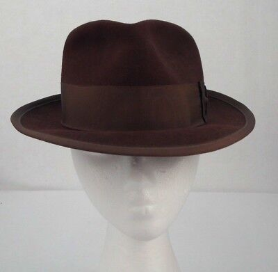 Exclusive Styles Park Royal Vintage All Fur Felt Brown Fedora