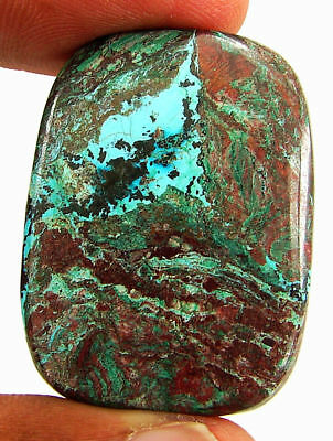 58.15 Ct Natural Azurite Loose Cabochon Gemstone Designer Stone - 18156