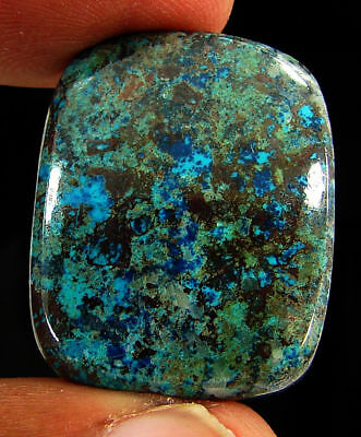 42.30 Ct Natural Azurite Loose Cabochon Gemstone Designer Stone - 18166