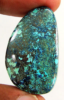 45.40 Ct Natural Azurite Loose Cabochon Gemstone Designer Stone - 18159