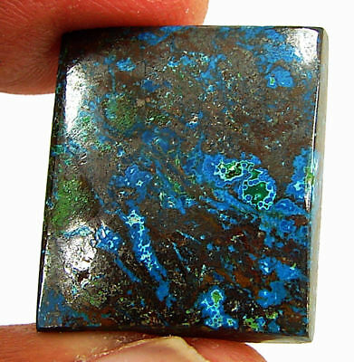 20.20 Ct Natural Azurite Loose Cabochon Gemstone Designer Stone - 18172