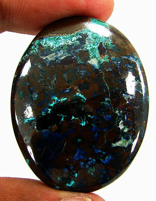 88.45 Ct Natural Azurite Loose Cabochon Gemstone Designer Stone - 18153
