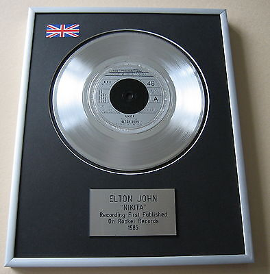 ELTON JOHN Nikita PLATINUM SINGLE DISC PRESENTATION