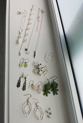 Bulk Lot of Sterling Silver Jewellery
