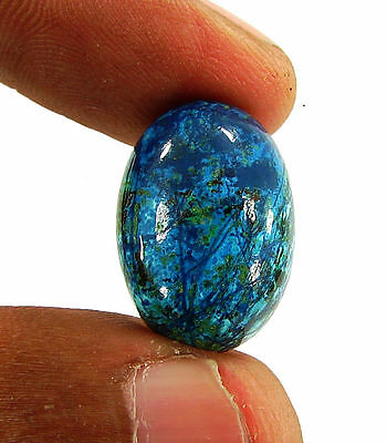 19.60 Ct Natural Blue Azurite Loose Gemstone Cabochon  Designer Stone - 14763
